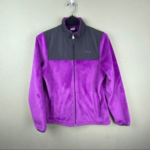 Fila Sport fleece full zip jacket medium